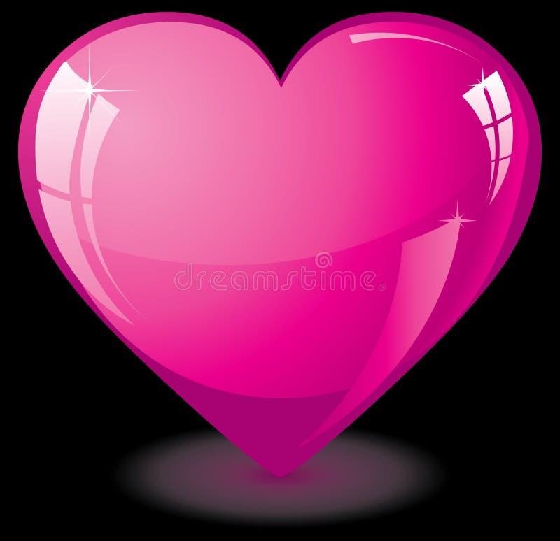 ροζ καρδιών γυαλιού απεικόνιση αποθεμάτων
