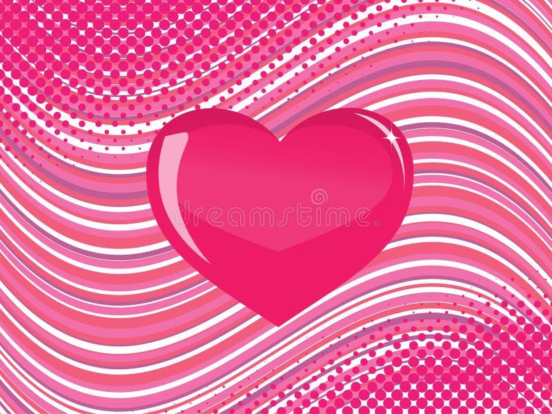 ροζ καρδιών γυαλιού διανυσματική απεικόνιση