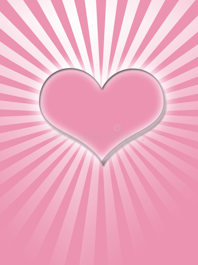 ροζ καρδιών πυράκτωσης διανυσματική απεικόνιση