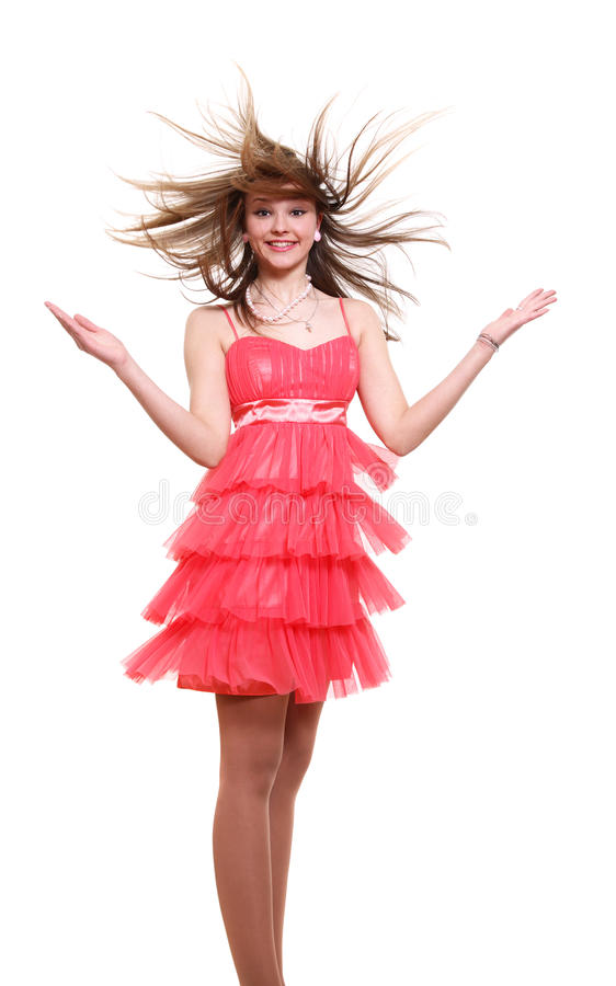 Download ροζ κοριτσιών φορεμάτων στοκ εικόνες. εικόνα από πόδι - 13189804