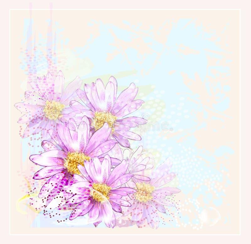 ροζ λουλουδιών διανυσματική απεικόνιση