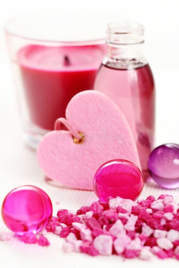 ροζ λουτρών στοκ φωτογραφία