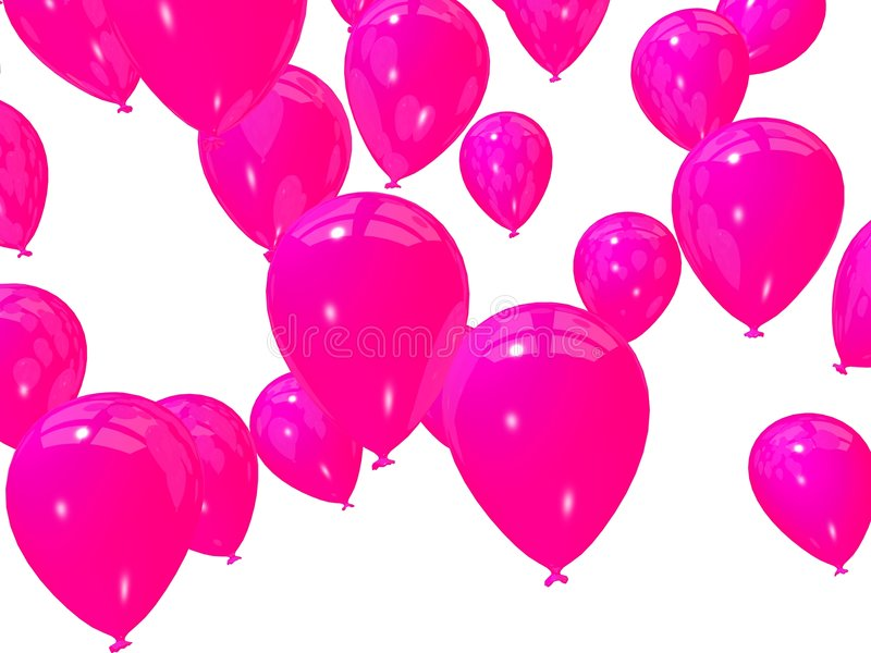 ροζ μπαλονιών ελεύθερη απεικόνιση δικαιώματος