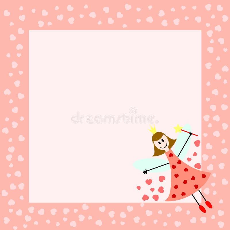 ροζ νεράιδων καρτών ελεύθερη απεικόνιση δικαιώματος