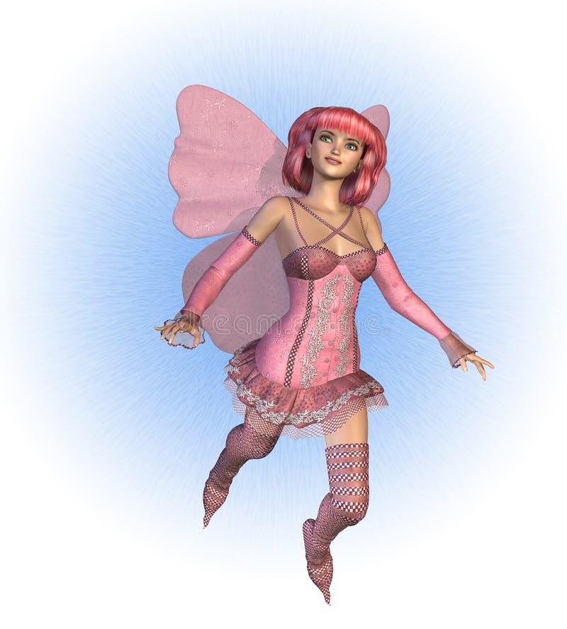 ροζ νεράιδων διανυσματική απεικόνιση