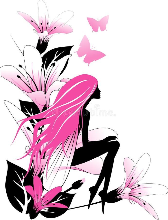 ροζ νεράιδων ελεύθερη απεικόνιση δικαιώματος