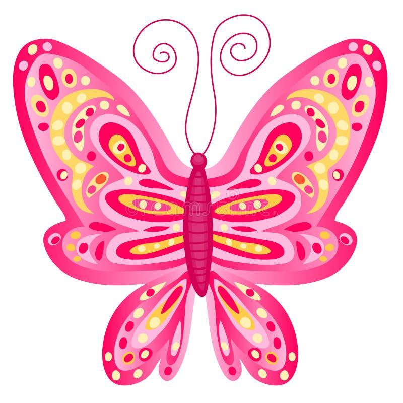 ροζ πεταλούδων διανυσματική απεικόνιση
