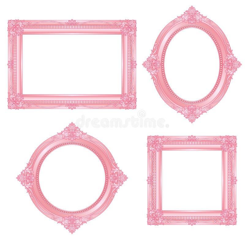 ροζ πλαισίων ελεύθερη απεικόνιση δικαιώματος