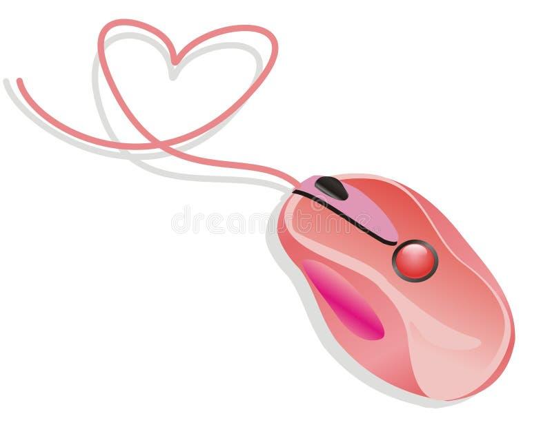 ροζ ποντικιών αγάπης ελεύθερη απεικόνιση δικαιώματος
