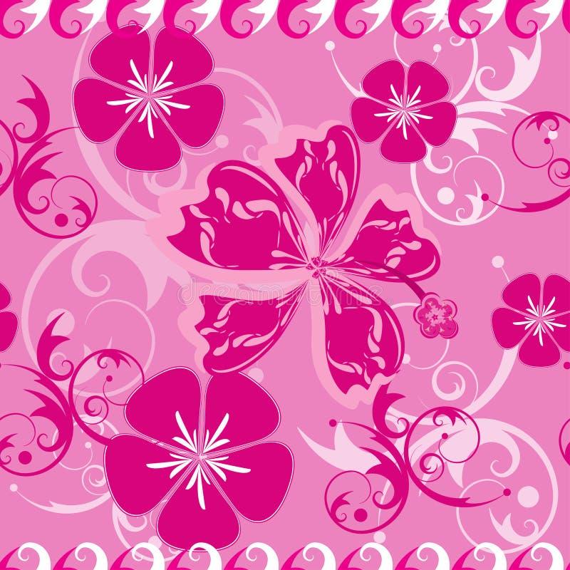 ροζ προτύπων της Χαβάης άνε&up διανυσματική απεικόνιση