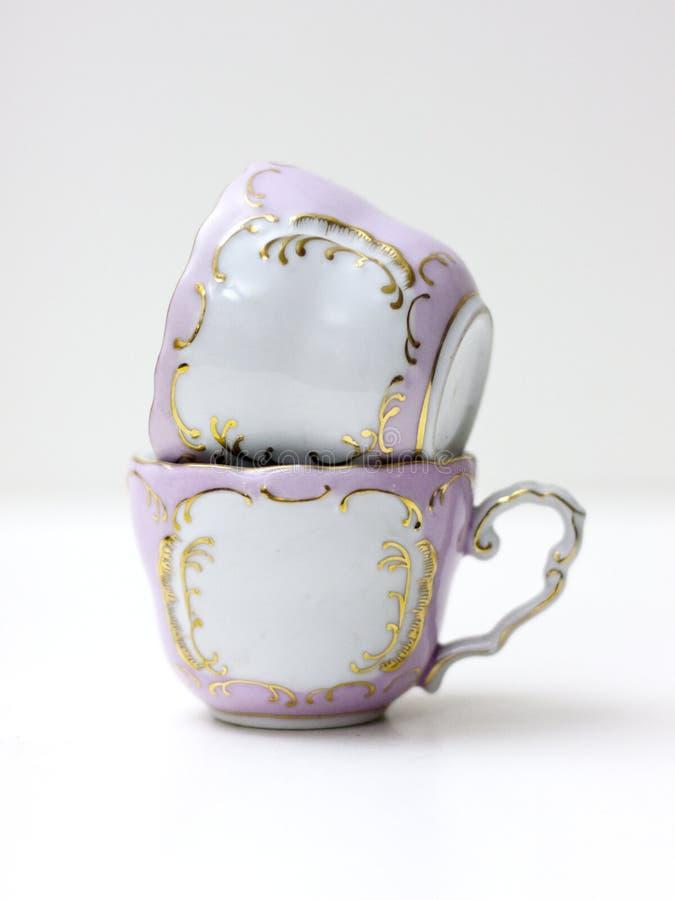 ροζ φλυτζανιών στοκ φωτογραφία