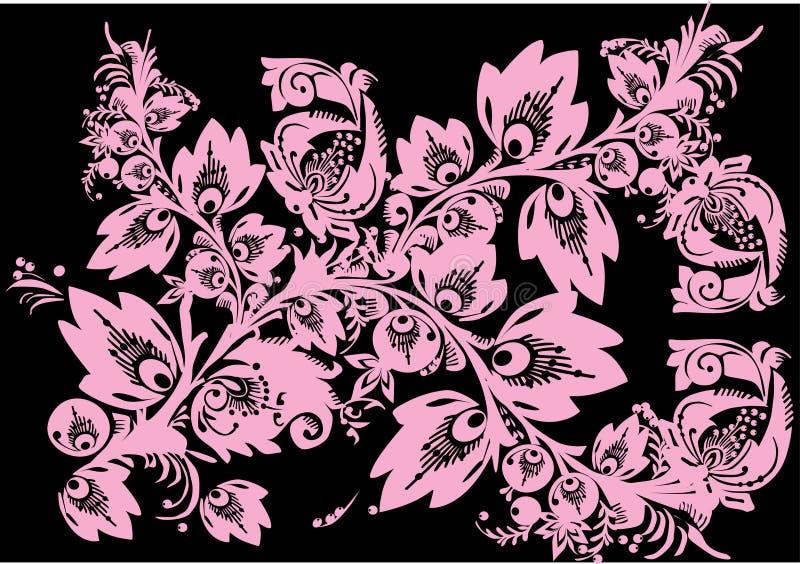 ροζ φυλλώματος κλάδων απεικόνιση αποθεμάτων