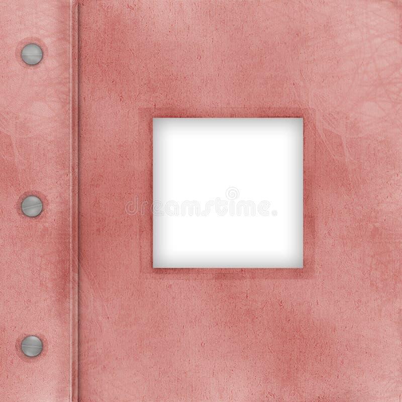 ροζ φωτογραφιών κάλυψης λευκωμάτων ελεύθερη απεικόνιση δικαιώματος