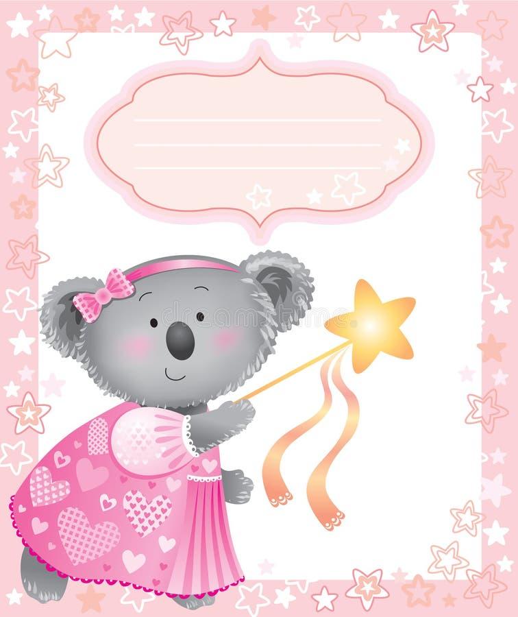 ροζ koala πλαισίων μωρών απεικόνιση αποθεμάτων