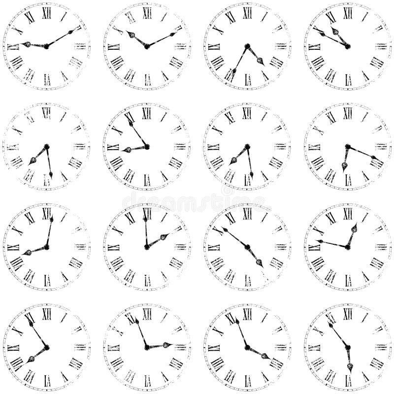 ρολόγια ανασκόπησης ελεύθερη απεικόνιση δικαιώματος