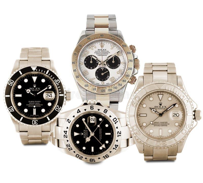Ρολόγια της Rolex στοκ εικόνες με δικαίωμα ελεύθερης χρήσης