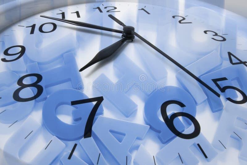 ρολόι αλφάβητων στοκ εικόνα