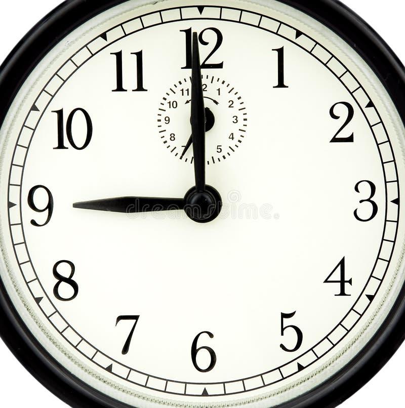 ρολόι εννέα Δωρεάν Στοκ Φωτογραφία