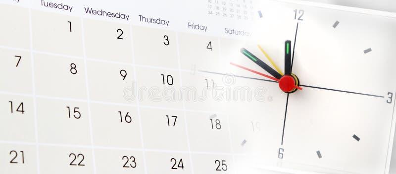 Ρολόι και ημερολόγιο στοκ εικόνες