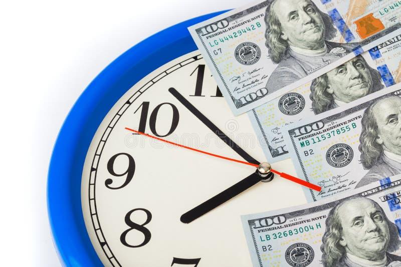 Ρολόι και χρήματα - επιχειρησιακή έννοια στοκ εικόνα με δικαίωμα ελεύθερης χρήσης