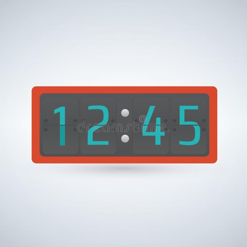 Ρολόι κτυπήματος τοίχων ή πινάκων, αντίθετο πρότυπο αριθμού ελεύθερη απεικόνιση δικαιώματος
