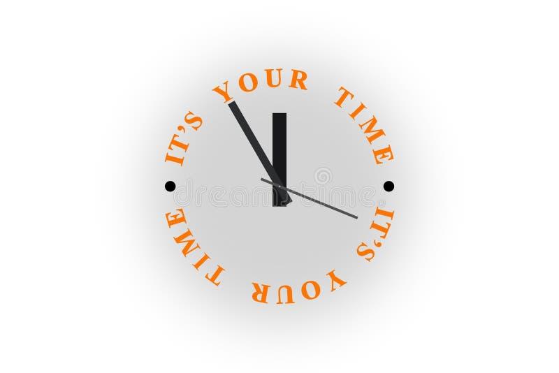 Ρολόι με την ΤΠ επιγραφής ελεύθερη απεικόνιση δικαιώματος