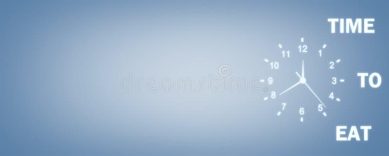 Ρολόι με το χρόνο ναφαγωθούν οι λέξεις σε ένα μπλε υπόβαθρο Χρόνος ναφαγωθεί το Γ διανυσματική απεικόνιση