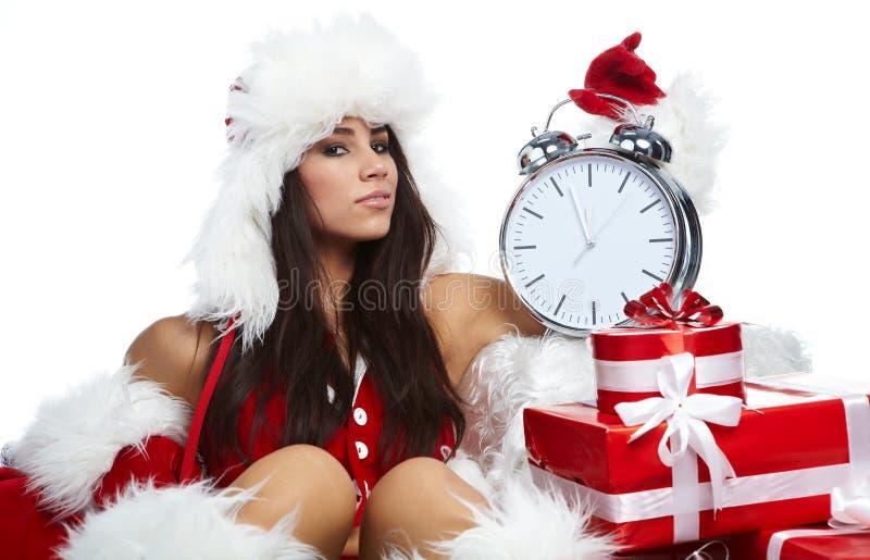 ρολόι πέντε κορίτσι mi λεπτά π στοκ φωτογραφία