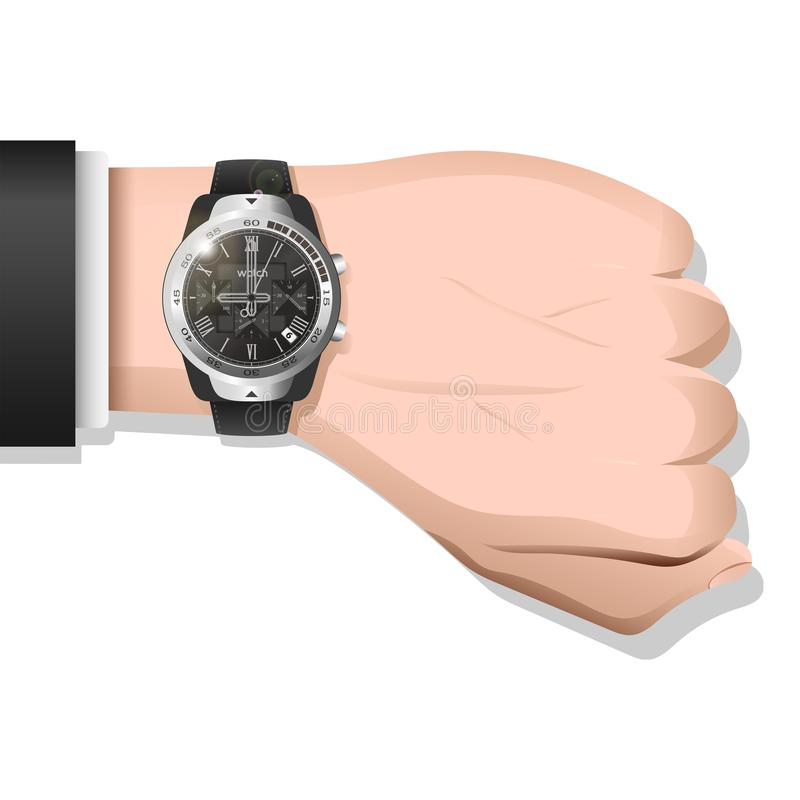 Ρολόι πολυτέλειας που τοποθετείται στον καρπό στοκ φωτογραφίες με δικαίωμα ελεύθερης χρήσης