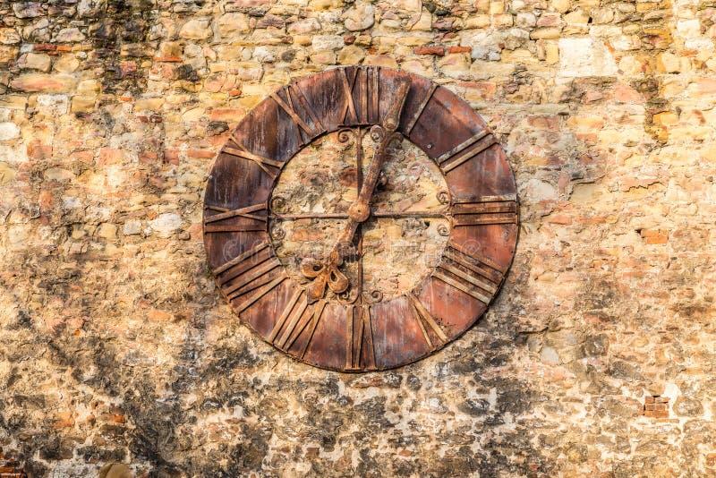 Ρολόι που αφαιρείται Κροατία από τον καθεδρικό ναό - Ζάγκρεμπ, στοκ φωτογραφίες