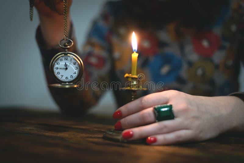 Ρολόι τσεπών ορείχαλκου στοκ φωτογραφία με δικαίωμα ελεύθερης χρήσης