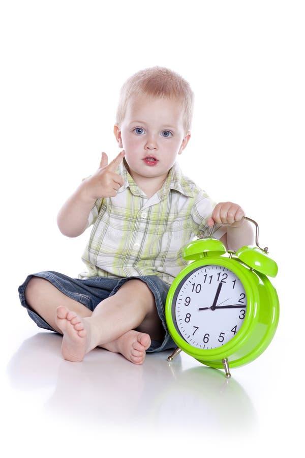 ρολόι boyl χαριτωμένο λίγα στοκ εικόνες με δικαίωμα ελεύθερης χρήσης