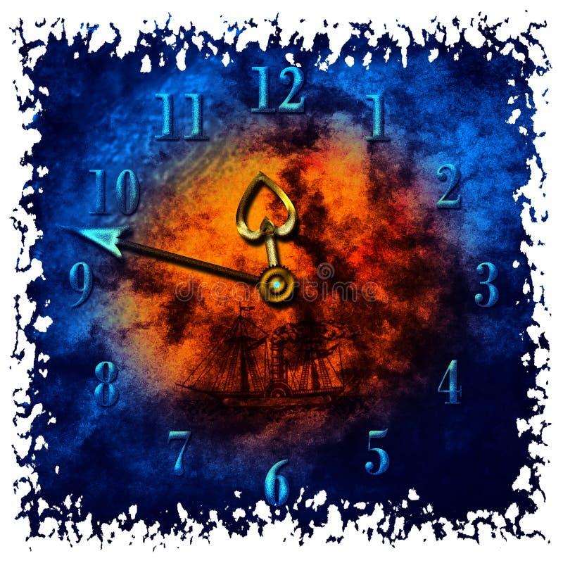 ρολόι grunge παλαιό απεικόνιση αποθεμάτων