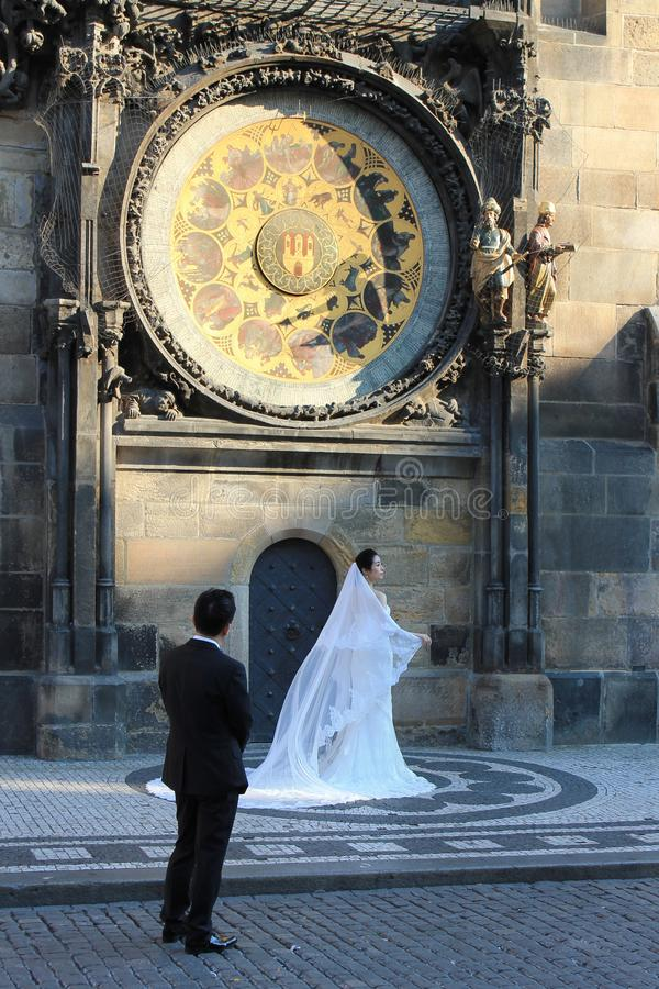 Ρολόι Orloj στη Δημοκρατία της Τσεχίας της Πράγας στοκ εικόνες