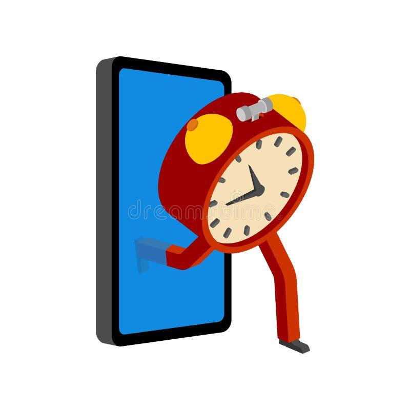 Ρολόι Smartphone και συναγερμών Το ρολόι πηγαίνει off-$l*line Στάση έννοιας σε απευθείας σύνδεση Διαφυγή από Διαδίκτυο ελεύθερη απεικόνιση δικαιώματος