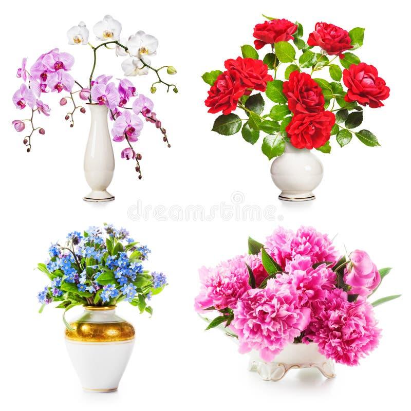 Ρομαντικά λουλούδια στο βάζο στοκ εικόνες