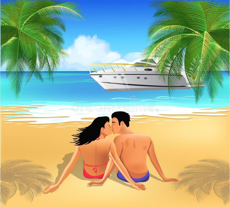 Ρομαντικές διακοπές απεικόνιση αποθεμάτων