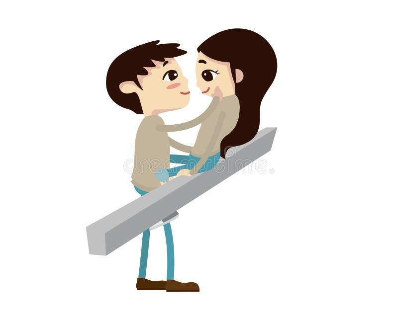 Ρομαντική απεικόνιση ζεύγους βαλεντίνων - δόξα τω Θεώ σας βρήκα απεικόνιση αποθεμάτων