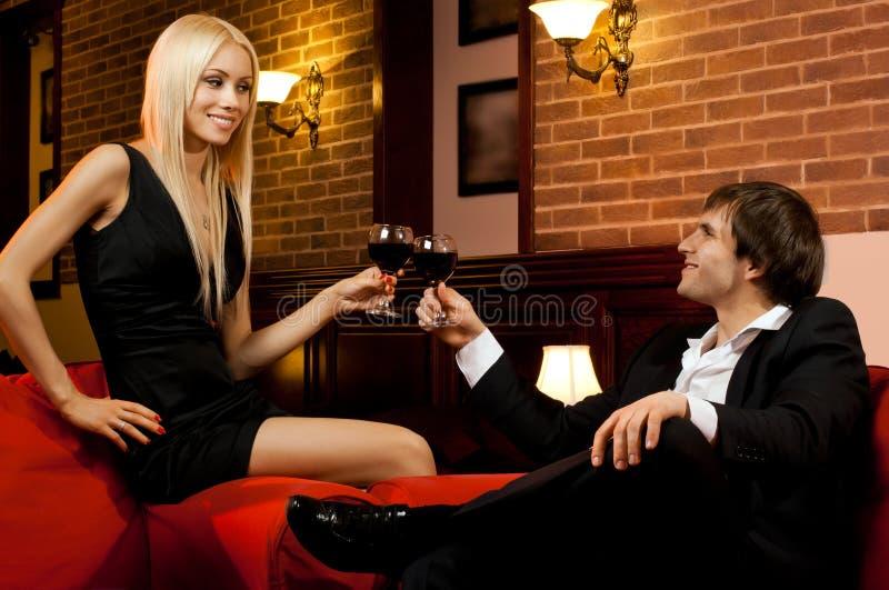 Ρομαντική ημερομηνία στοκ εικόνες με δικαίωμα ελεύθερης χρήσης