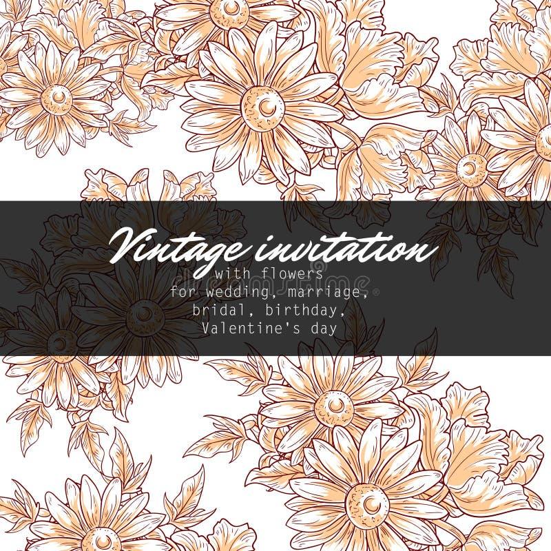 Download Ρομαντική floral πρόσκληση απεικόνιση αποθεμάτων. εικονογραφία από άνοιξη - 62724594
