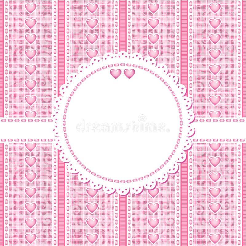 ρομαντικός γάμος βαλεντίνων προτύπων ημέρας καρτών διανυσματική απεικόνιση