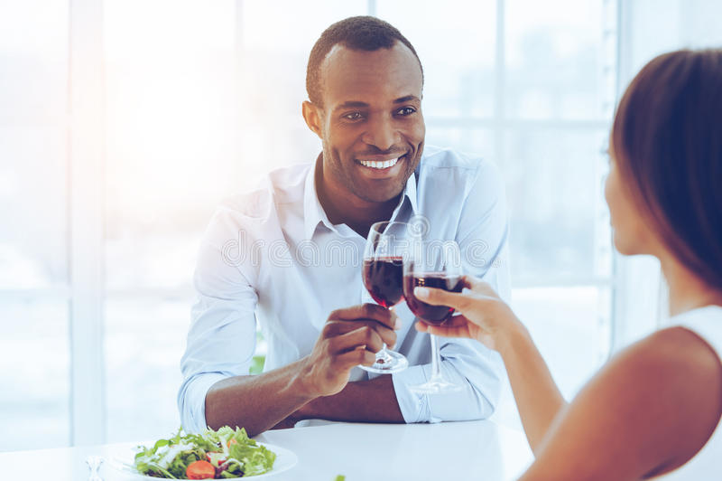Ρομαντικό γεύμα στοκ εικόνες