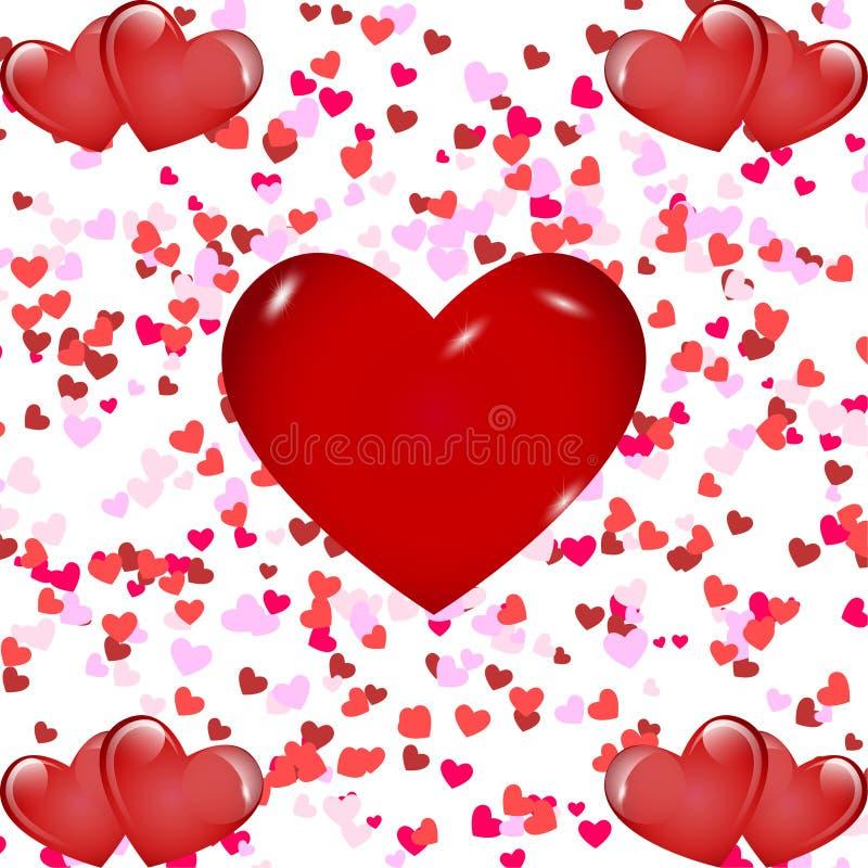 ρομαντικό διάνυσμα απεικόνισης καρδιών ανασκόπησης στοκ εικόνα με δικαίωμα ελεύθερης χρήσης
