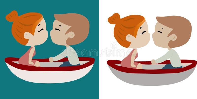 Ρομαντικό ευτυχές ζεύγος εν πλω στοκ εικόνες με δικαίωμα ελεύθερης χρήσης