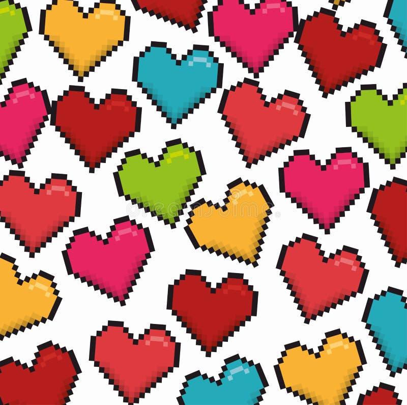 Download Ρομαντικό ζωηρόχρωμο σχέδιο καρτών με τις ζωηρόχρωμες καρδιές Απεικόνιση αποθεμάτων - εικονογραφία από γάμος, κόκκινος: 62702893