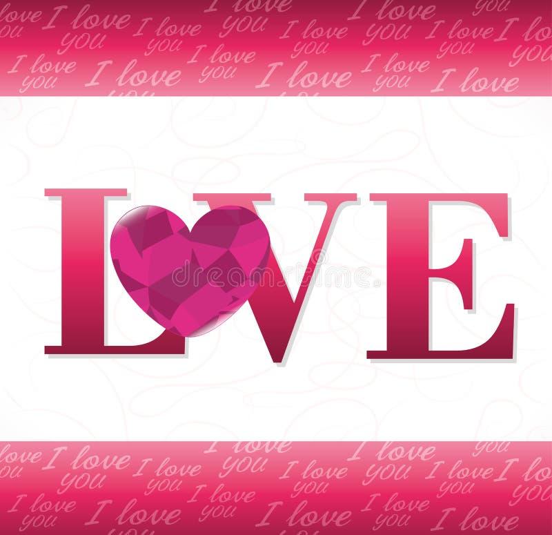 Download Ρομαντικό ζωηρόχρωμο σχέδιο καρτών με τις ρόδινες καρδιές Απεικόνιση αποθεμάτων - εικονογραφία από αγάπη, υλοτομία: 62702629