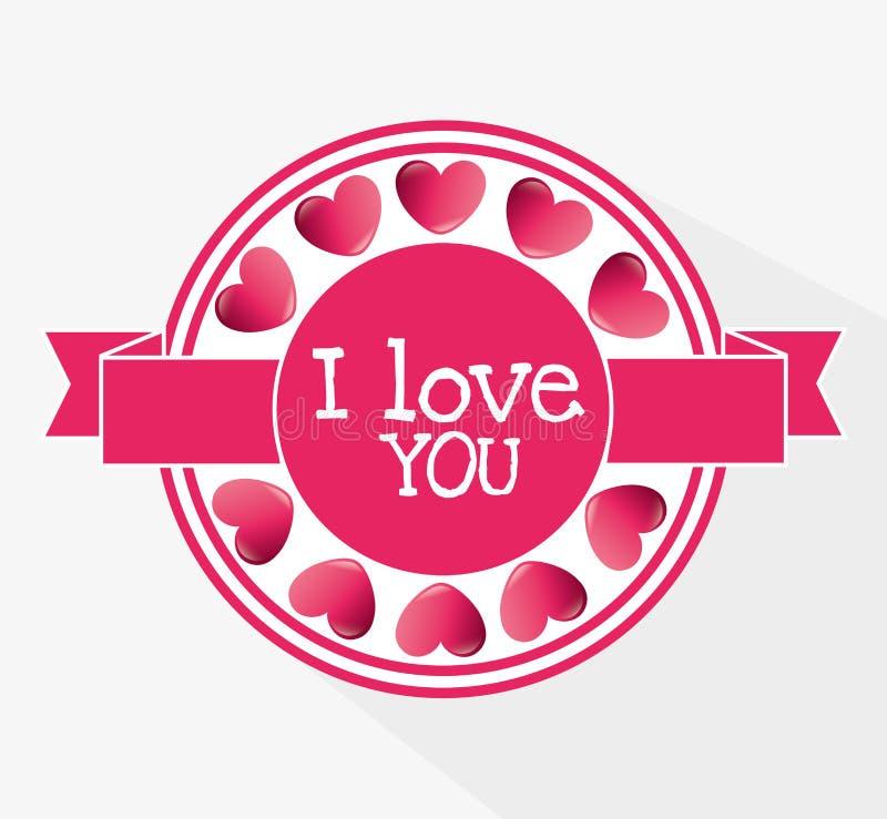 Download Ρομαντικό ζωηρόχρωμο σχέδιο καρτών με τις ρόδινες καρδιές Απεικόνιση αποθεμάτων - εικονογραφία από δώρο, κόκκινος: 62702646