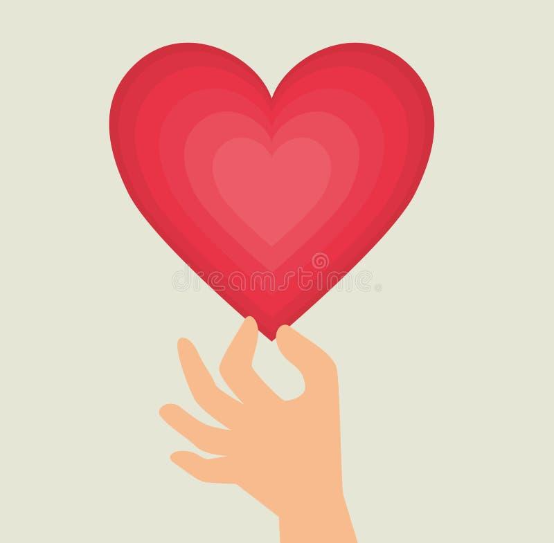 Download Ρομαντικό ζωηρόχρωμο σχέδιο καρτών με τις ρόδινες καρδιές Απεικόνιση αποθεμάτων - εικονογραφία από δώρο, ποσού: 62702720