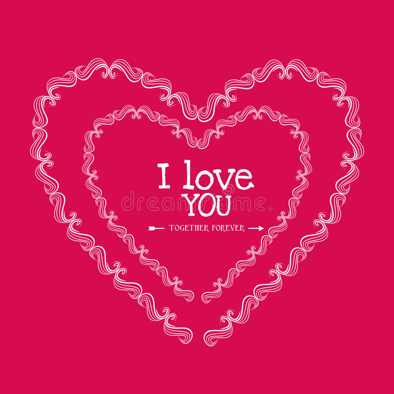 Download Ρομαντικό ζωηρόχρωμο σχέδιο καρτών με τις ρόδινες καρδιές Απεικόνιση αποθεμάτων - εικονογραφία από arroyos, βαλεντίνος: 62702774
