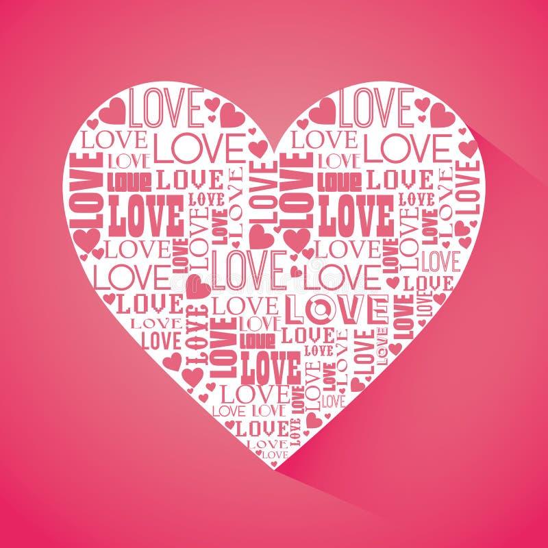 Download Ρομαντικό ζωηρόχρωμο σχέδιο καρτών με τις ρόδινες καρδιές Απεικόνιση αποθεμάτων - εικονογραφία από μορφή, αποχής: 62703250